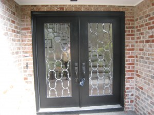 Beveled and leaded entry doors